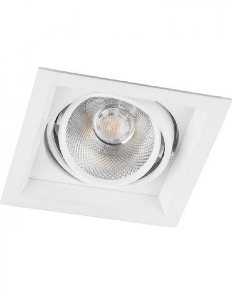 Светодиодный светильник Feron AL201 карданный 1x20W 4000K 35 градусов ,белый