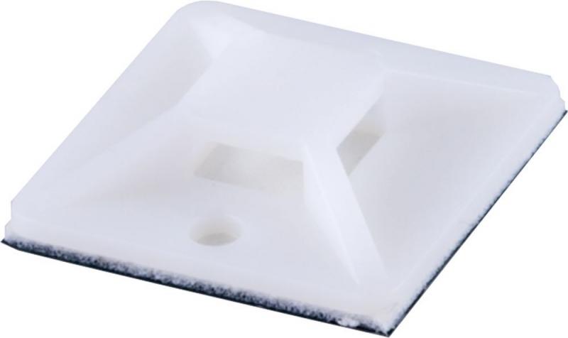 Площадка самоклеющаяся STEKKER WMCL3030 30*30 мм под хомуты белый
