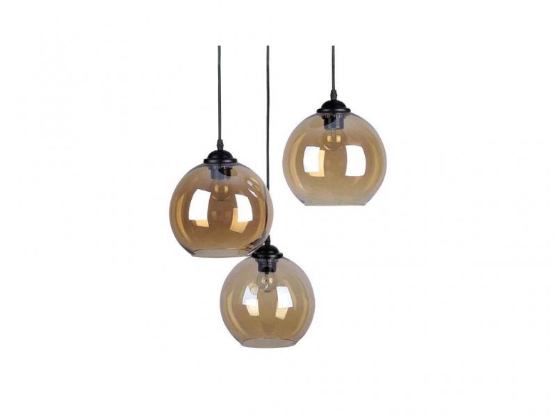 Светильник подвесной  Тип ламп 3*60W E27 материал: металл, стекло 450*450*1000