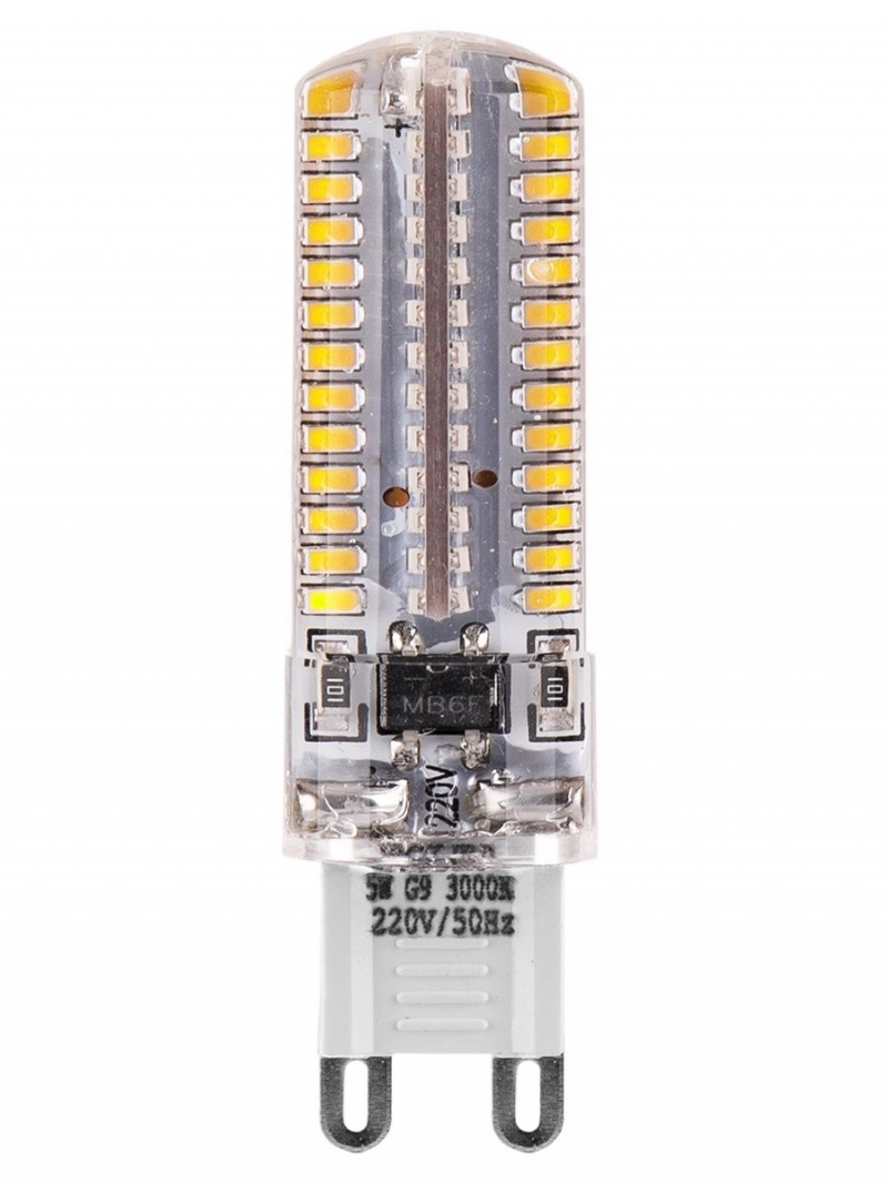 Лампа LED WOLTA JCD  5Вт 360Лм G9 220V 4000K 1/5/100/1000