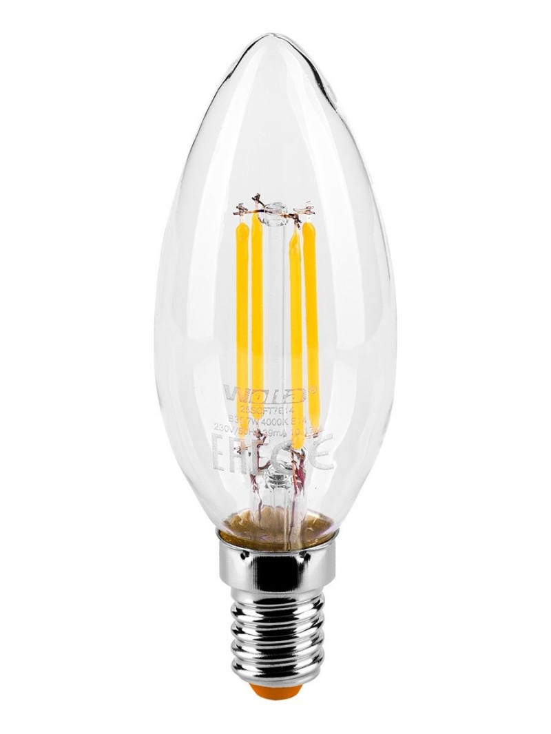 Лампа LED  WOLTA FILAMENT св вт  CT35 5Вт 545Лм E14 4000K 1/10/50