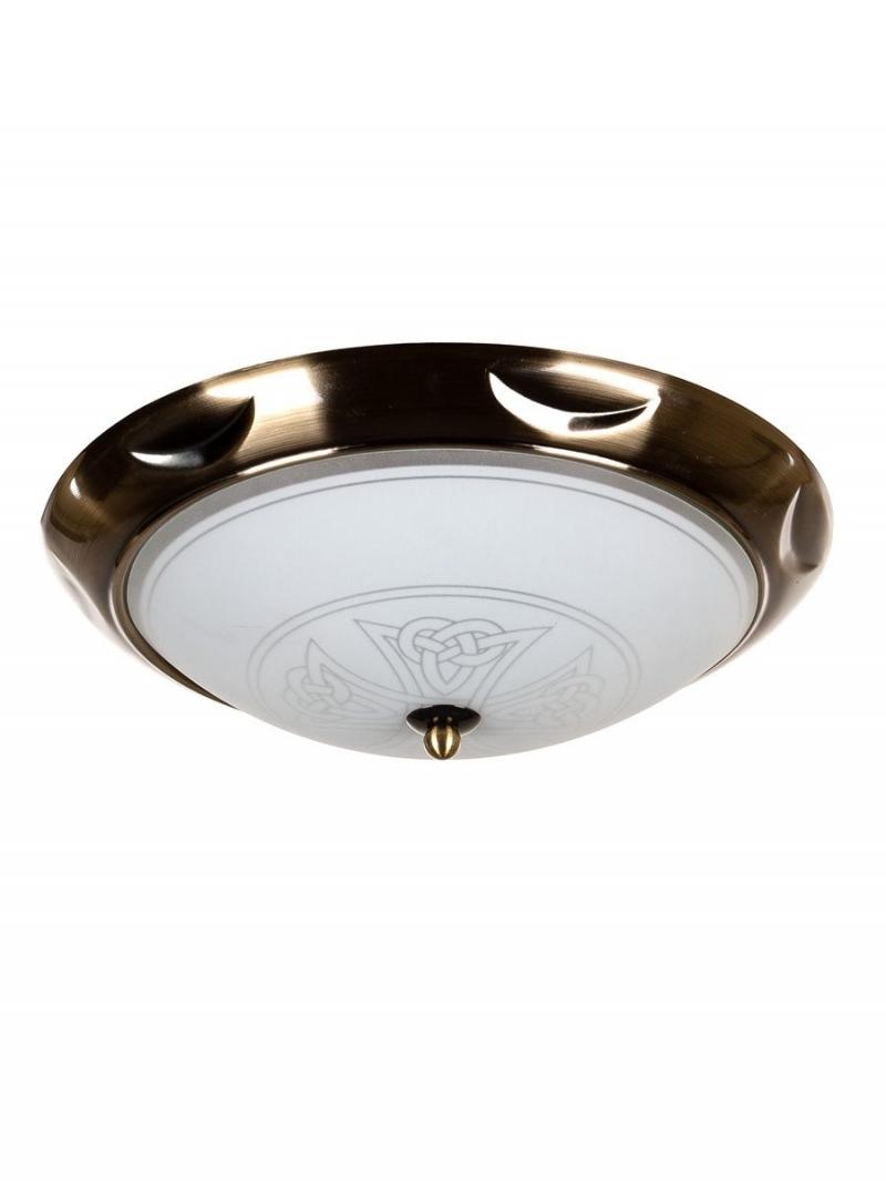 Светильник потолочный OREON02 Тип ламп E27*2*60W материал: металл, стекло 320*320*110