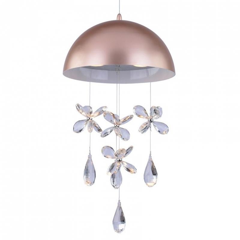 Светильник подвесной Alegria Тип ламп GU10*3*50W материал: металл,хрусталь D300*H1500