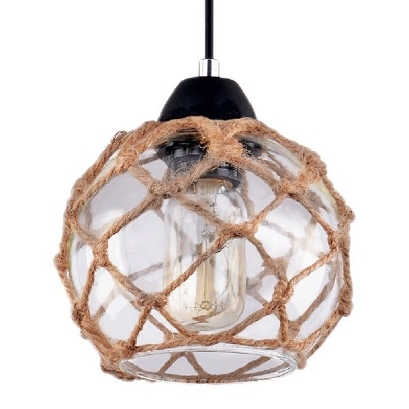 Светильник потолочный Neti Тип ламп E27*1*60W материал: металл,стекло, текстиль D150*H1500