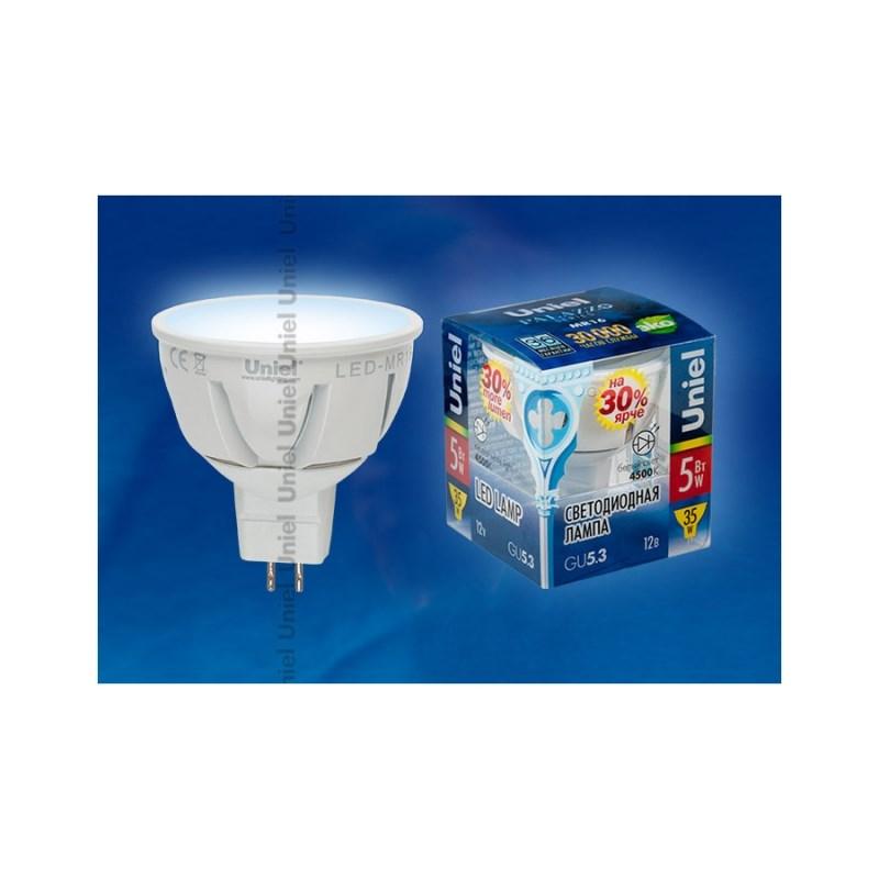 Светодиодная лампа софит Uniel Palazzo 12V LED-MR16-5W/NW/GU5.3/FR ALP01WH