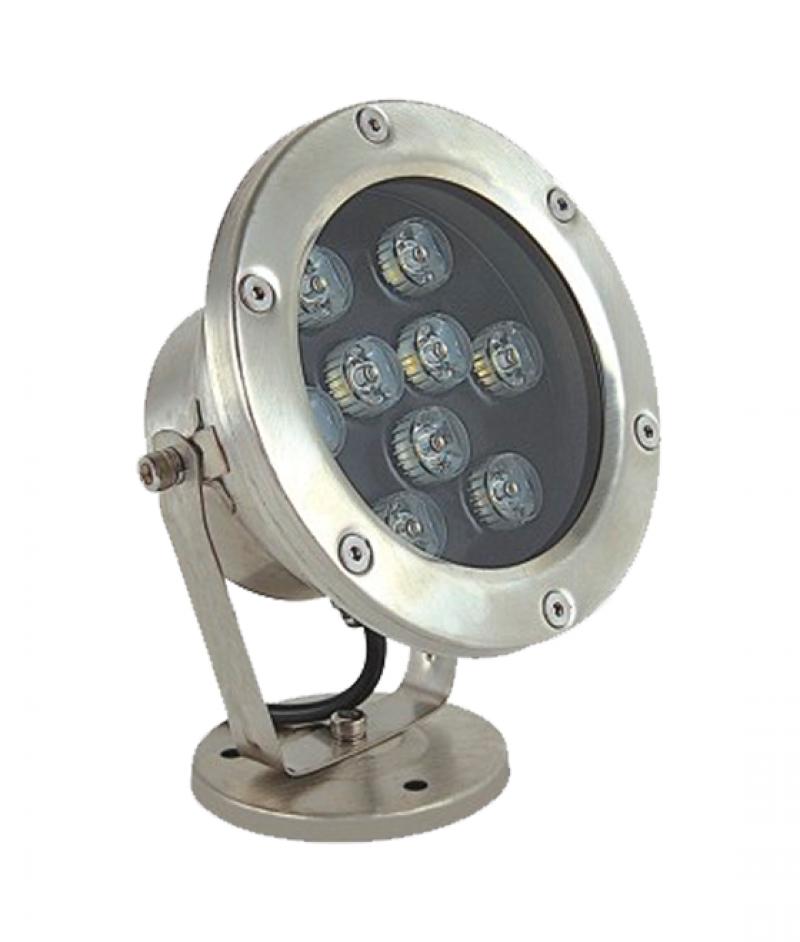 Светодиодный подводный накладной светильник UG1459 9W 12V IP68 D145xH180мм 6000К (Низковольтный)