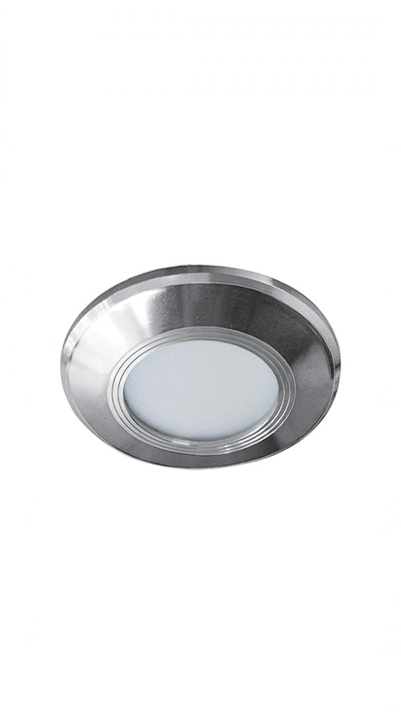 Светильник LED ультратонкий встраиваемый 5W 4000K 325LM круг хром 20x89MM