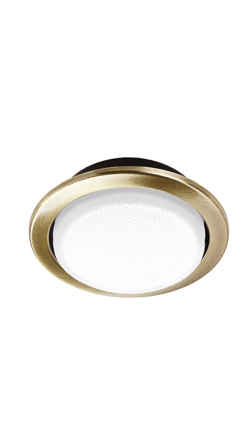 Светильник встраиваемый GX53 золотой матовый 40x160MM