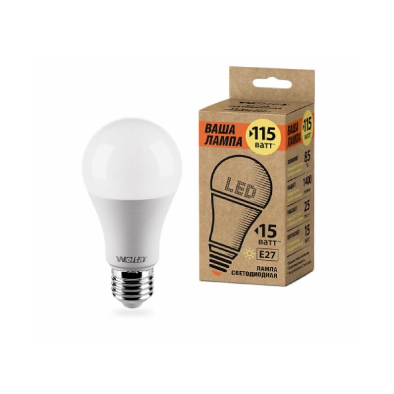 Лампа светодиодная 25Y60BL15E27-P 15W 230В Е27 3000К 1400Lm Wolta