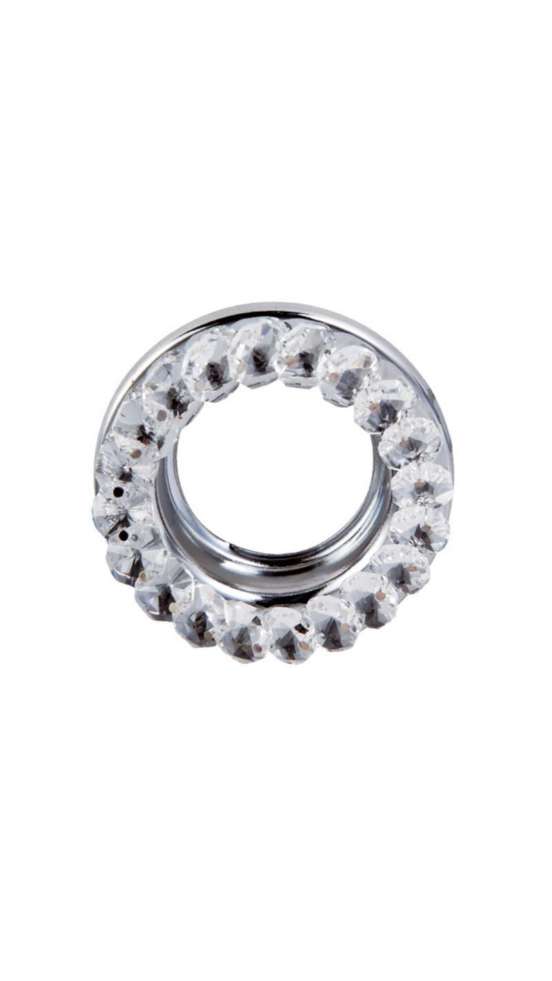 Светильник встраиваемый кристалл MR16 GU5.3 прозрачный/хром 49x85MM