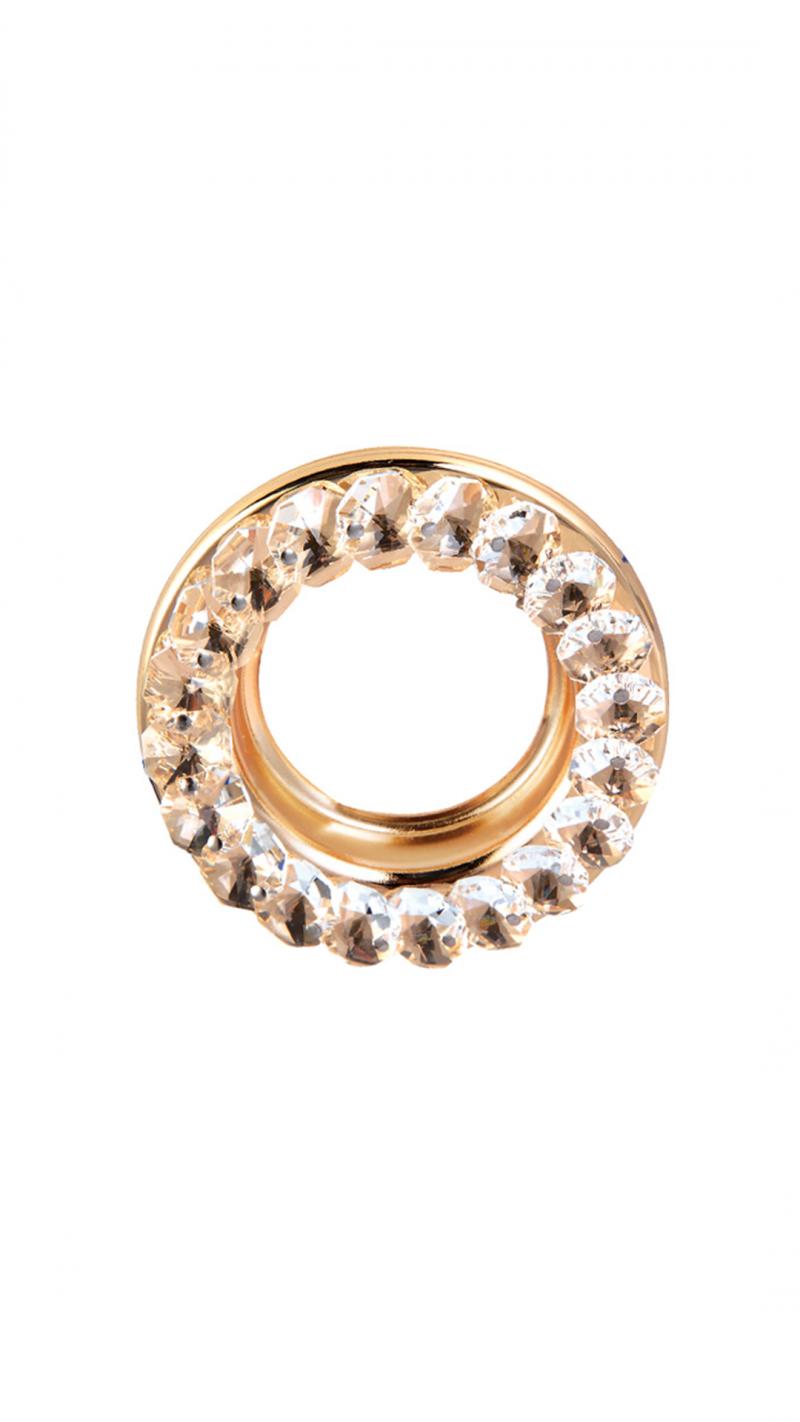 Светильник встраиваемый кристалл MR16 GU5.3 прозрачный/золото 49x85MM
