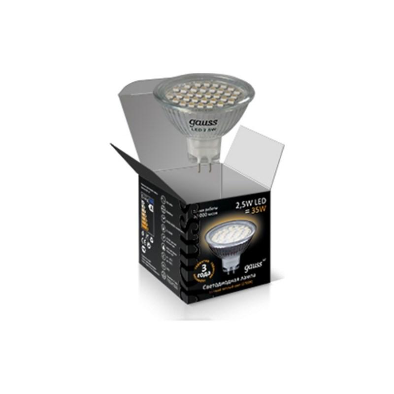 Светодиодная лампа Gauss LED MR16 220V 2.5W/GU5.3/4100К