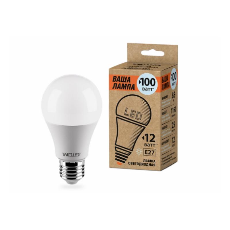 Лампа светодиодная 25S60BL12E27-P 12W 230В Е27 4000К 1150Lm Wolta