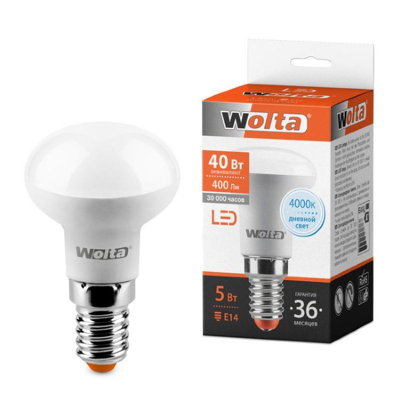 Лампа светодиодная 25S39R5E14 5W 230В Е14 4000К 400Lm Wolta
