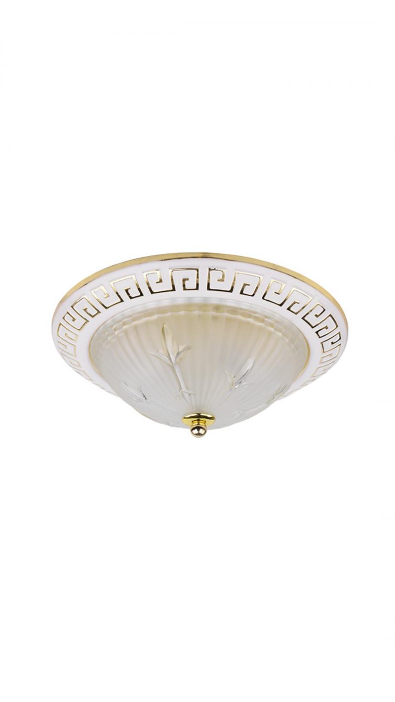 Светильник потолочный OREON01 Тип ламп E27*2*60W материал: металл, стекло 280*280*100