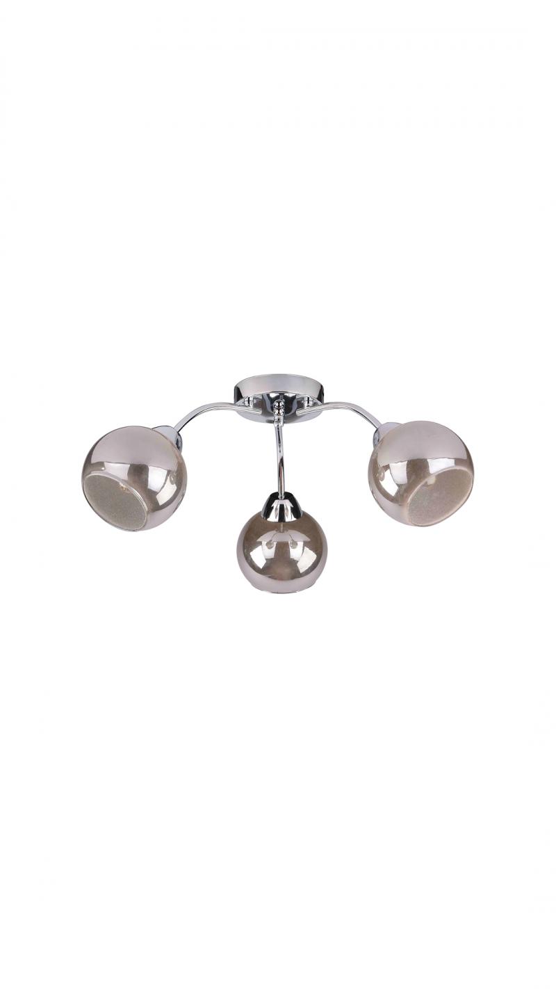 Светильник потолочный Aura Тип ламп E14*3*40W материал: металл,стекло D550*H230