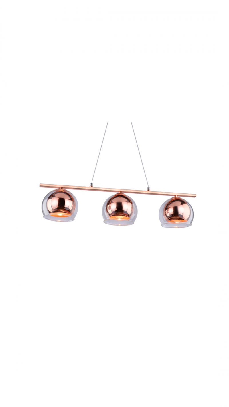 Светильник подвесной Vida Тип ламп E27*3*40W материал: металл,стекло L750*H1150*W150