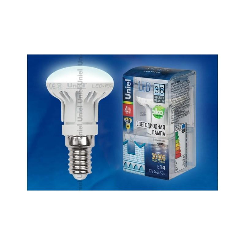 Лампа светодиодная Uniel Merli рефлектор LED-R39-4W/NW/E14/FR ALM01WH