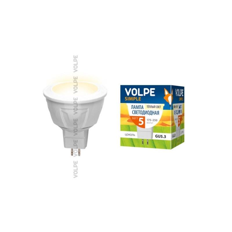 Светодиодная лампа софит Uniel Volpe Simple LED-JCDR-5W/NW/GU5.3/3000K/S