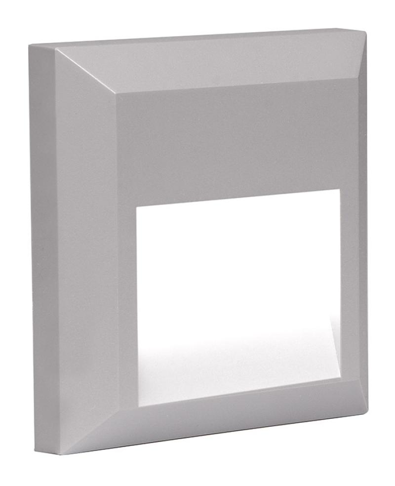 Светильник светодиодный фасадный PST/W S124124 2w 4000K серый IP65 Jazzway .5005587