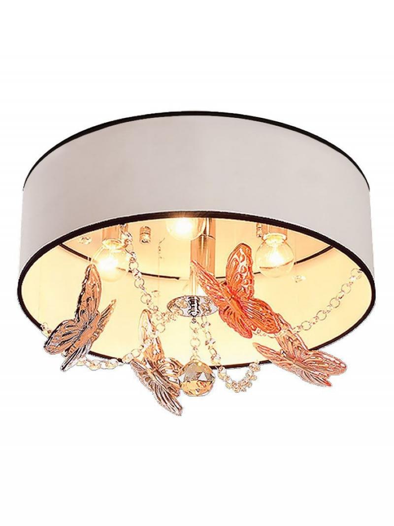 Светильник потолочный Mariposa Тип ламп E14*4*40W материал: текстиль,пластик,хрусталь D400*H250