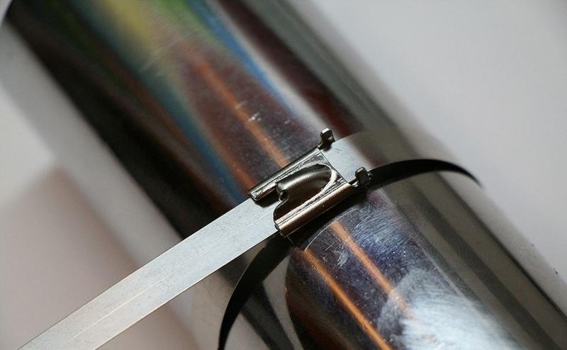 Хомут стальной STEKKER SSCTE79-200 7.9х200мм, d пучка max 48мм, нагрузка 120кг, серый, упаковка 25 шт
