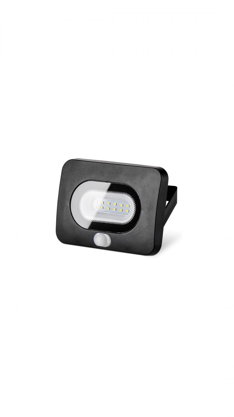 Светодиодный прожектор LFL-10/05s с датчиком движения 5500K 10 Вт LED IP65 800 Лм