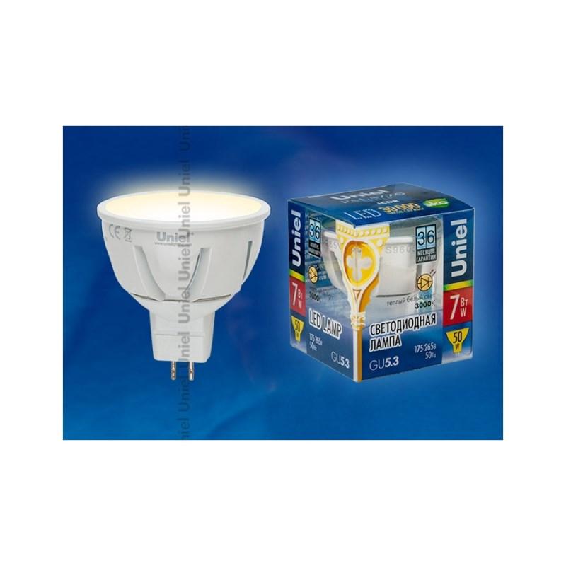 Светодиодная лампа софит Uniel Palazzo LED-JCDR-7W/NW/GU5.3/FR ALP01WH