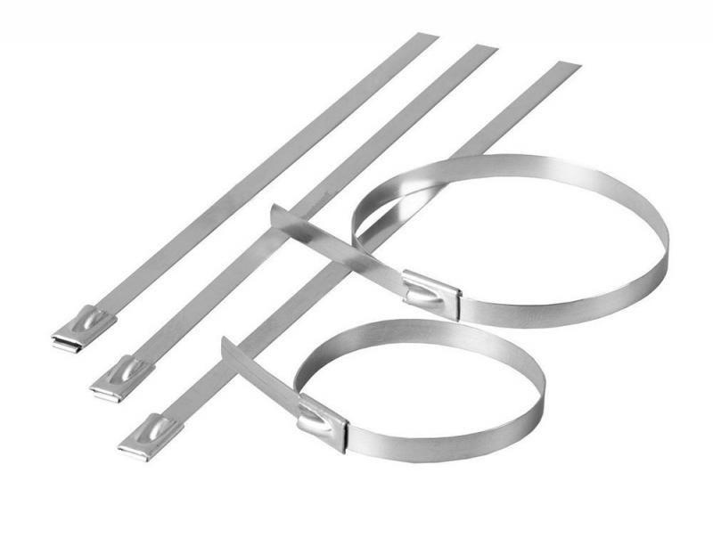 Хомут стальной STEKKER SSCTE79-300 7.9х300мм, d пучка max 82мм, нагрузка 120кг, серый, упаковка 25 шт