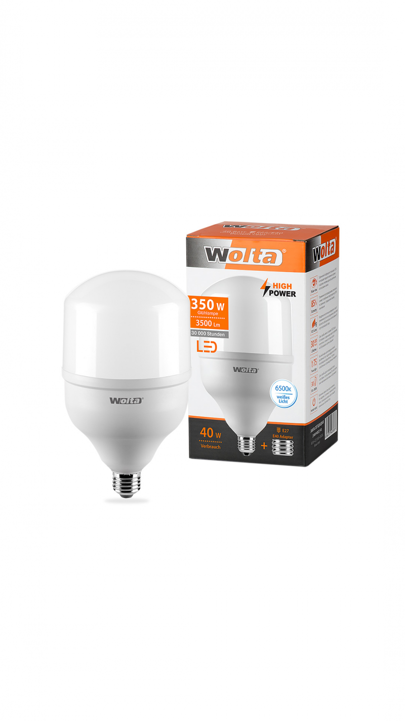 Лампа LED WOLTA HP 60Вт 5000Лм E40  6500K 1/12
