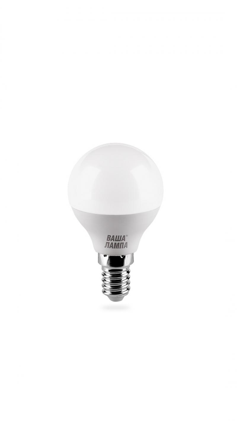 Лампа LED ВАША ЛАМПА G45 5Вт Е14 3000К   1/50