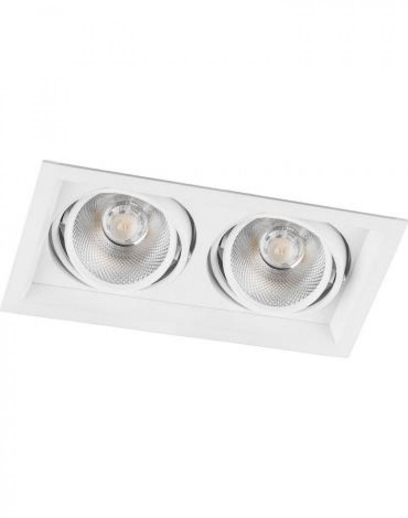 Светодиодный светильник Feron AL202 карданный 2x12W 4000K 35 градусов ,белый