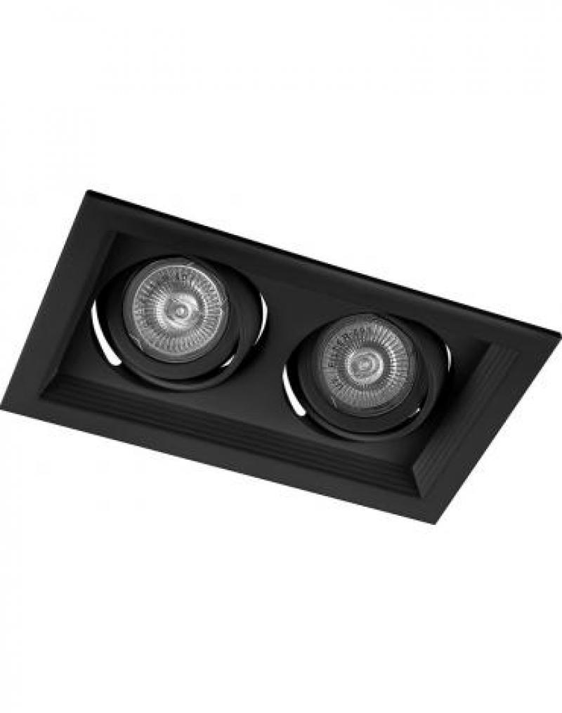 Светильник встраиваемый Feron DLT202 потолочный MR16 G5.3 черный