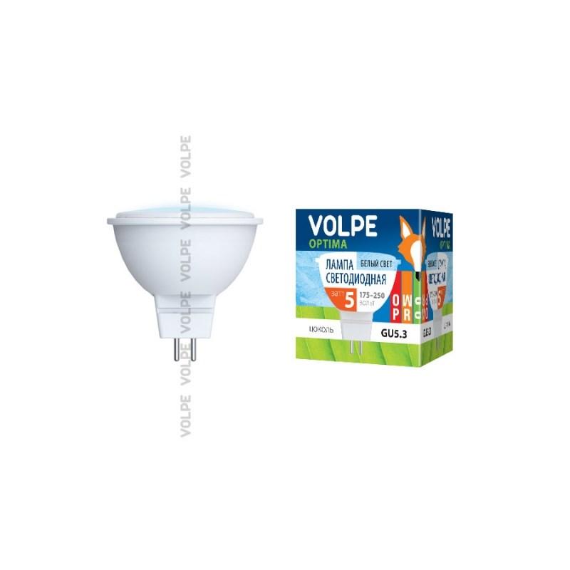 Светодиодная лампа софит Uniel Volpe Optima LED-JCDR-5W/NW/GU5.3/4500K/O