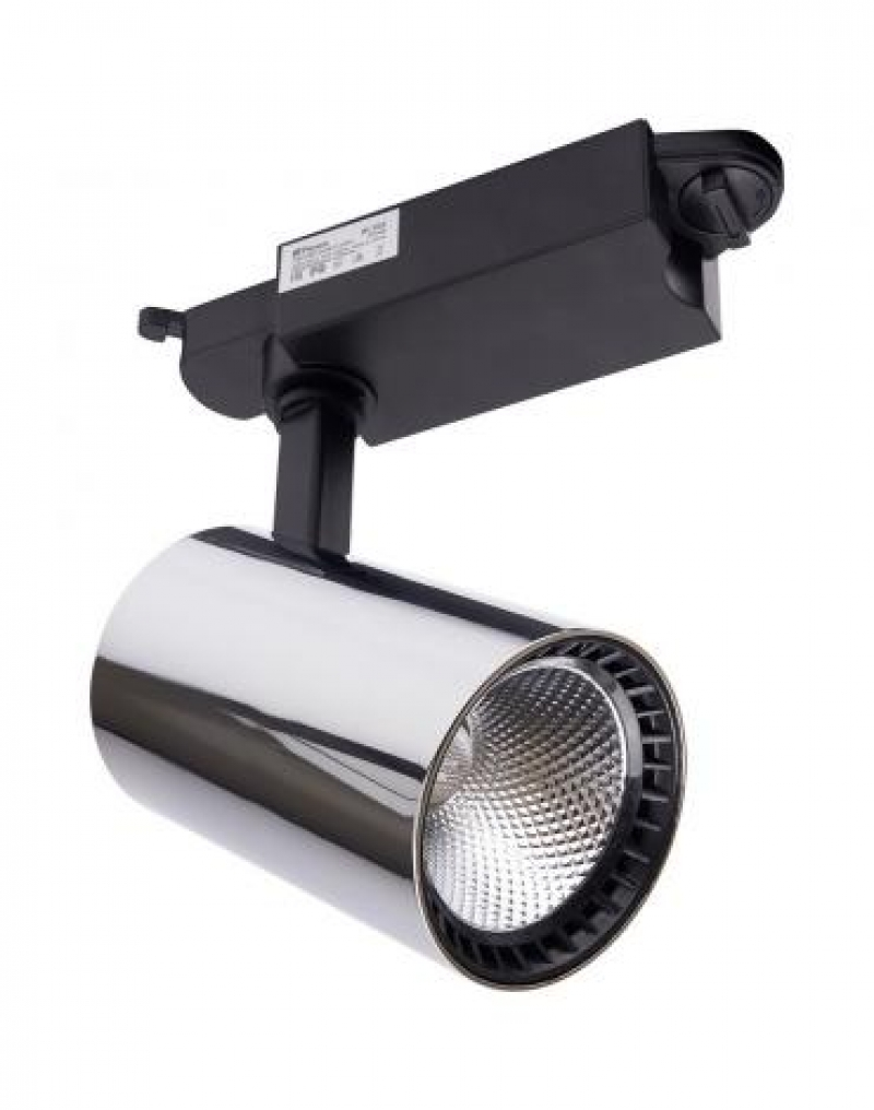 Светодиодный светильник Feron AL102 трековый на шинопровод 12W 4000K 35 градусов 1080 Лм хром