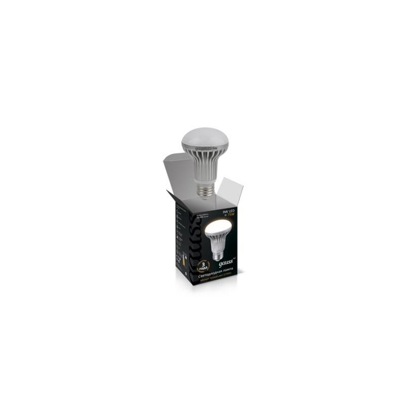 Светодиодная лампа GAUSS Рефлектор 9W E27 2700К 890 Lm