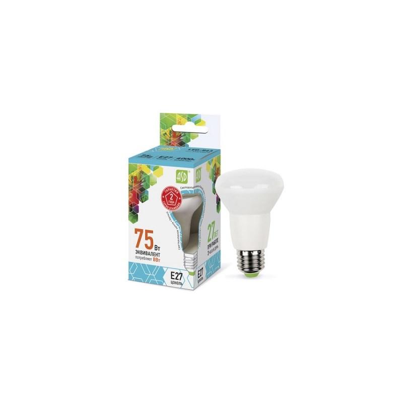 Лампа светодиодная LED-R63-standard 8Вт 230В Е27 4000К 720Лм ASD