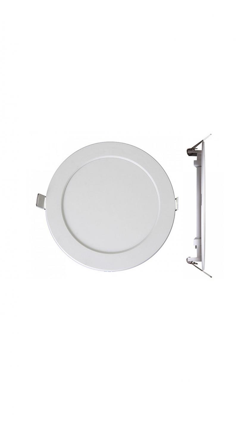 Светильник LED PPL-R 12Вт 800Лм 4000K IP40 бел d175мм встр/кр Jazzway .5008540A