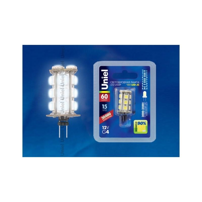 Светодиодная лампа капсульная Uniel LED-JC-12/0,9W/WW/G4 60 Lm Corn