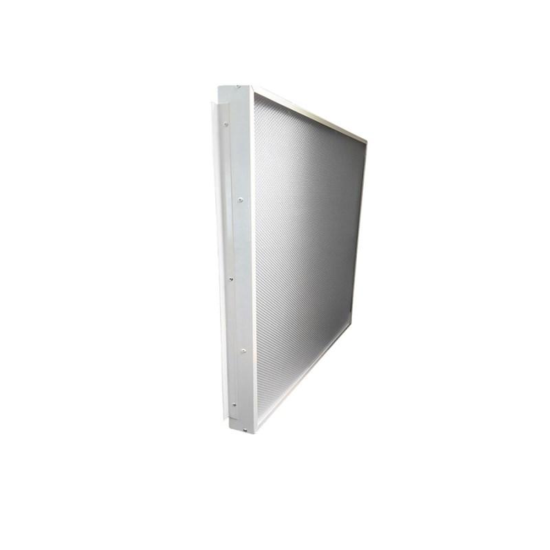 Офисный светодиодный светильник Грильято STELLAR 50 W встраиваемый/накладной 5800 Lm 5000K 588x588x40 mm Колотый лед