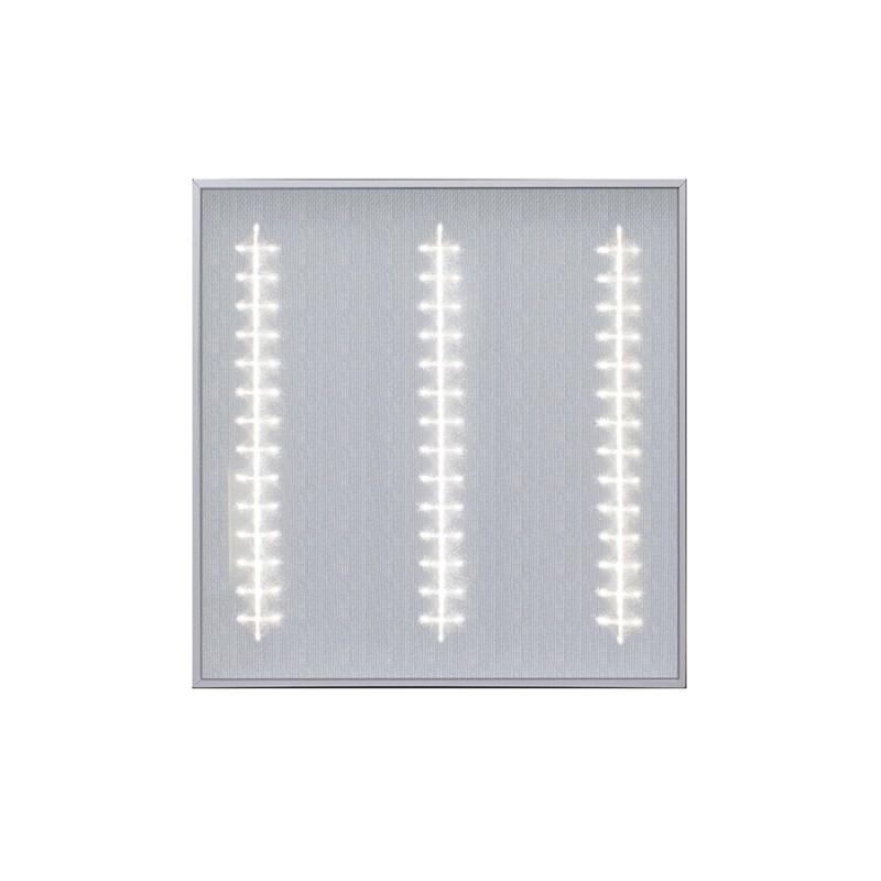 Офисный светодиодный светильник Грильято STELLAR с функцией аварийного и эвакуационного освещения, 27 W встраиваемый/накладной 3150 Lm 4000K 588x588x40 mm Микропризма