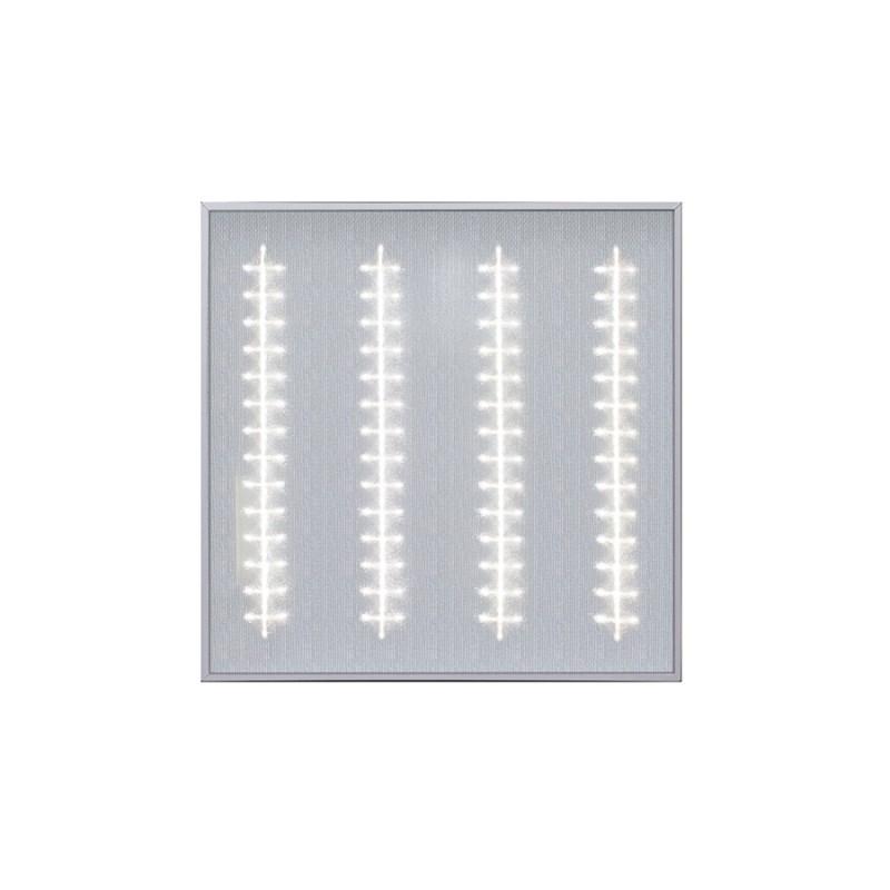 Офисный светодиодный светильник Грильято STELLAR 45 W встраиваемый/накладной 5400 Lm 4000K 588x588x40 mm Микропризма