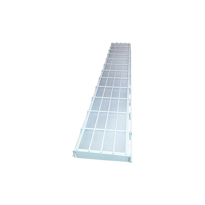 Cветодиодный светильник для спортивных залов с защитной решеткой STELLAR SPORT 50 W накладной 5800 Lm 5000K 1200х180x40 mm Опаловый