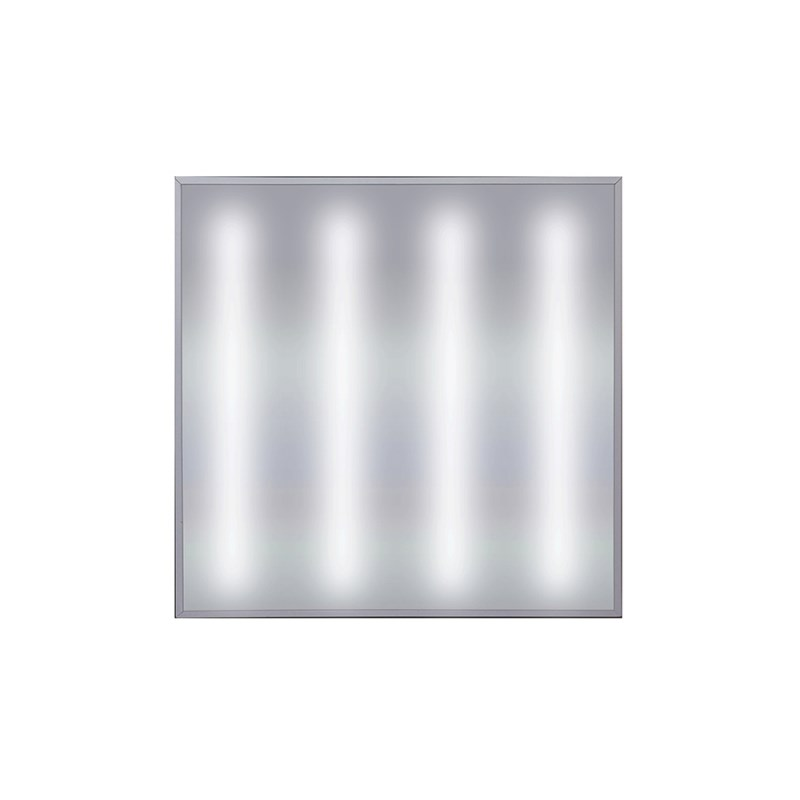 Офисный светодиодный светильник Грильято STELLAR 45 W встраиваемый/накладной 5400 Lm 5000K 588x588x40 mm Опаловый