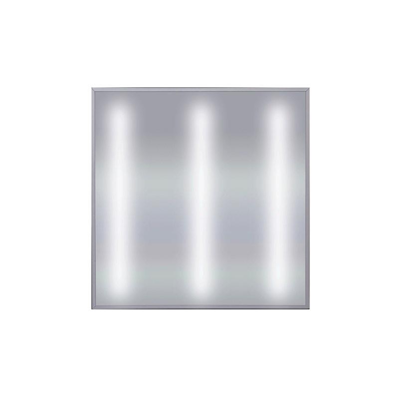 Офисный светодиодный светильник Грильято STELLAR с функцией аварийного и эвакуационного освещения, 27 W встраиваемый/накладной 3150 Lm 5000K 588x588x40 mm Опаловый