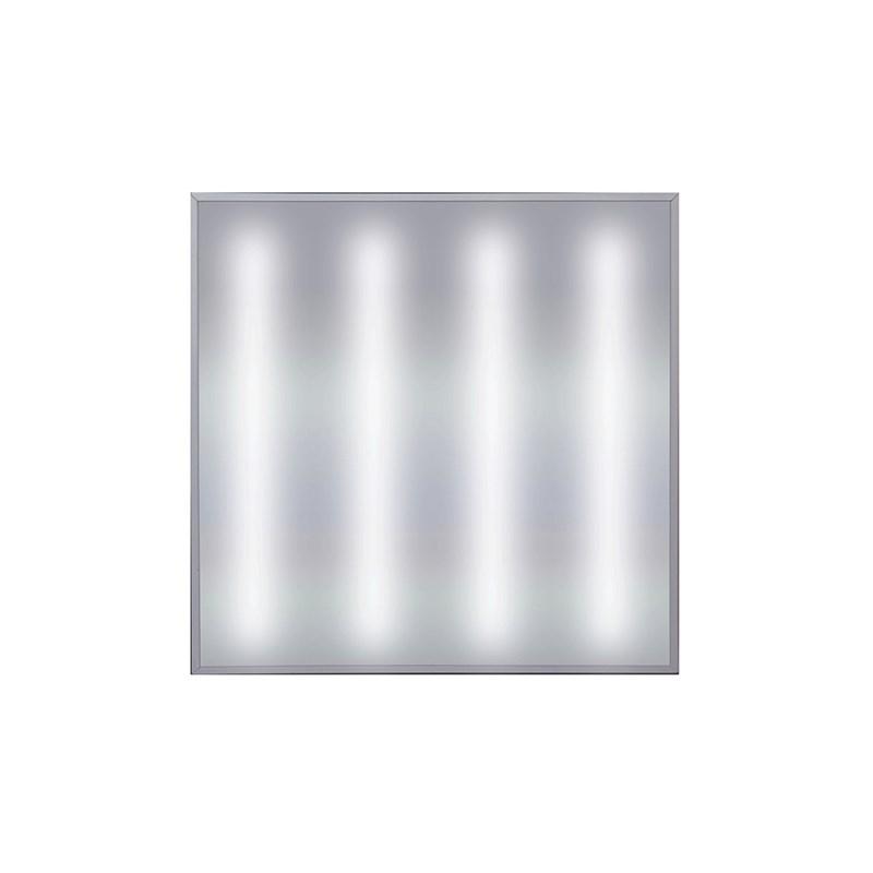 Офисный светодиодный светильник Грильято STELLAR с функцией аварийного и эвакуационного освещения, 45 W встраиваемый/накладной 5400 Lm 5000K 588x588x40 mm Опаловый
