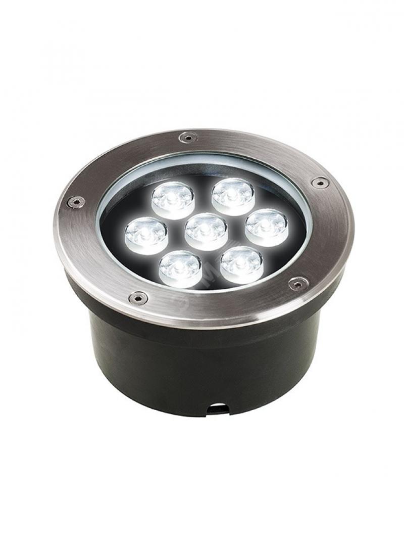 Светильник светодиодный грунтовый PGR R160 12w 4000K хром IP65 Jazzway .5006560