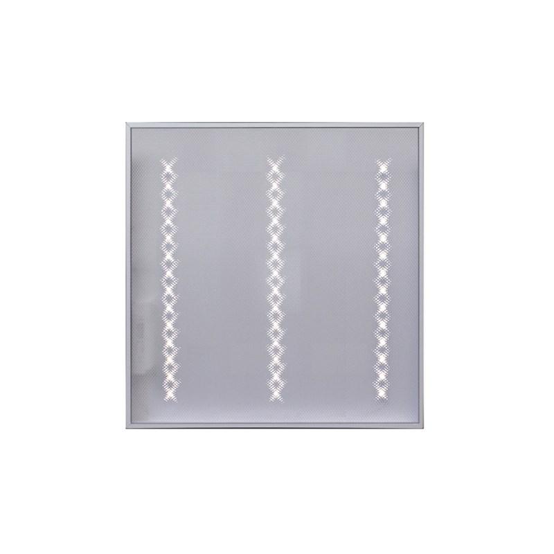 Светодиодный светильник для спортивных залов с защитной решеткой Армстронг STELLAR OFFICE-SPORT-24W накладной 2730 Lm 5000K 595x595x40 mm Призма
