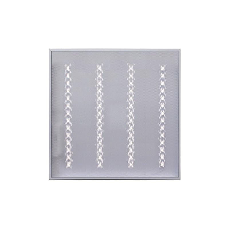 Светодиодный светильник для спортивных залов с защитной решеткой Армстронг STELLAR 30 W накладной 3680 Lm 5000K 595x595x40 mm Призма