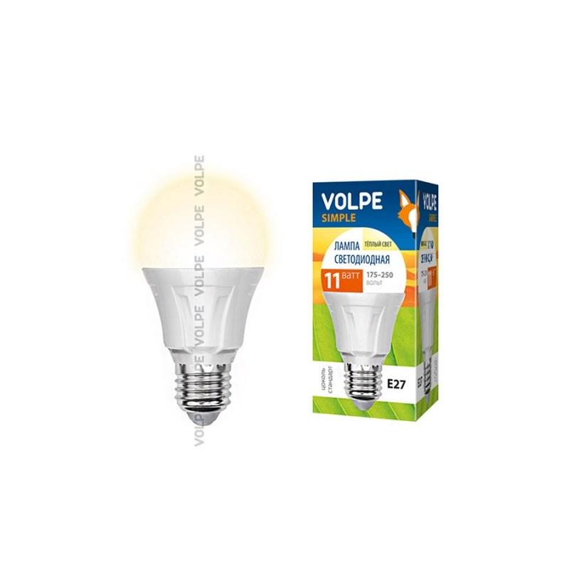 Светодиодная лампа ЛОН Uniel Volpe Simple LED-A60-11W/WW/E27/FR/S